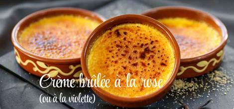 Crème Brûlée à la rose