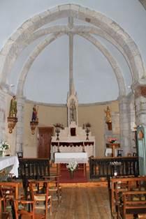 Eglise de Bourg d'Oueil Intérieur