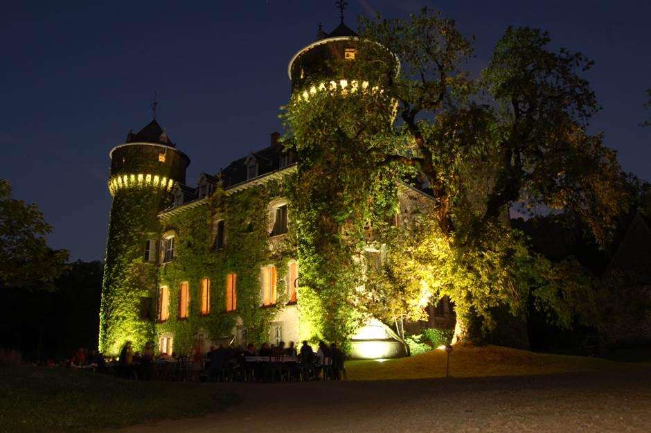Château de Sedaiges - façade nuit
