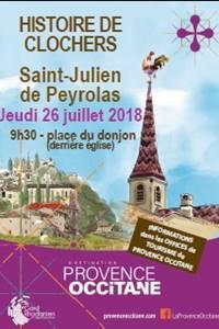 Histoire de Clochers à St Julien-de-Peyrolas