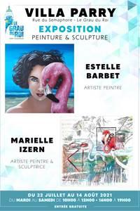 Exposition de peintures et sculptures Estelle Barbet et Marielle Izern