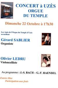 Concert au temple d'Uzès