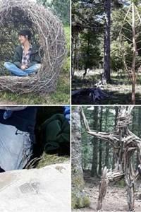 Pratique artistique du Land Art autour de la pierre et du bois