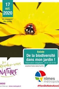 """RDV Nature """"De la Biodiversité dans mon jardin"""""""