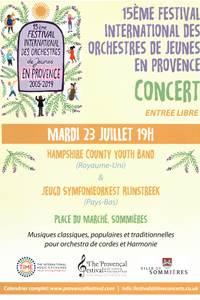 15ème Festival International des Orchestres de Jeunes en Provence. Concert