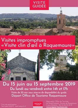 """Visites impromptues """"Visite clin d'oeil à Roquemaure"""""""