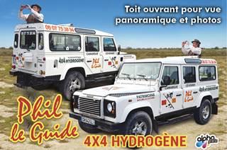 PHIL LE GUIDE : Camargue, Cévennes, Villes, Villages et Sites naturels ou touristiques exeptionnels en 4X4 éco-touristique à l'hydrogène et visités guidées