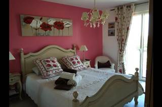 Chambre Rose dans maison d'hôtes