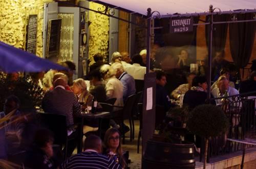 Terrasse de l'Estanquet restaurant St Maximin © L'ESTANQUET
