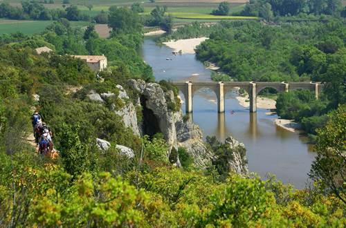 Panorama sur le Pont Saint Nicolas - Gorges du Gardon ©