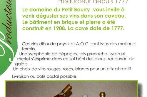 Domaine du Petit Bourry ©