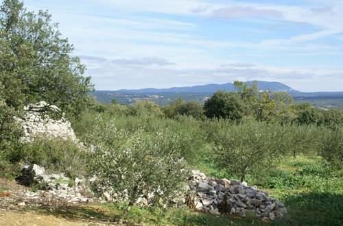 Le Chemin Urbain V - Panorama depuis Vézénobres ©