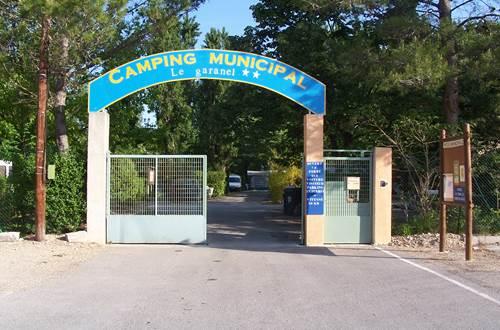 Camping Le Garanel entrée ©
