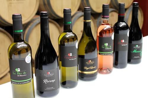 Cave St Maurice bouteilles de vins ©