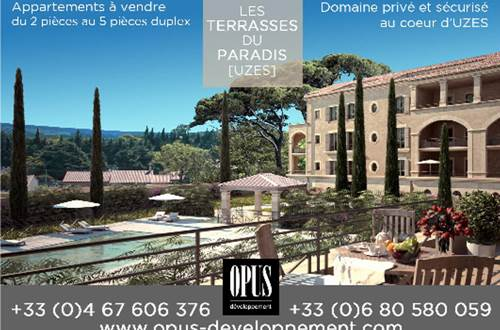 Opus Développement - Les terrasses du paradis à Uzès © Opus Développement
