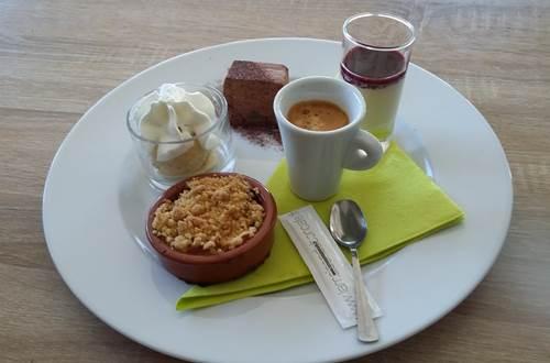 dessert café gourmand © l'olivaie de coste belle