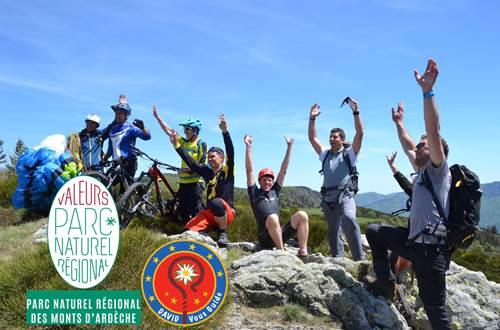 David Vous Guide Randonnée Valeur Parc Naturel Régional des Monts d'Ardèche ©